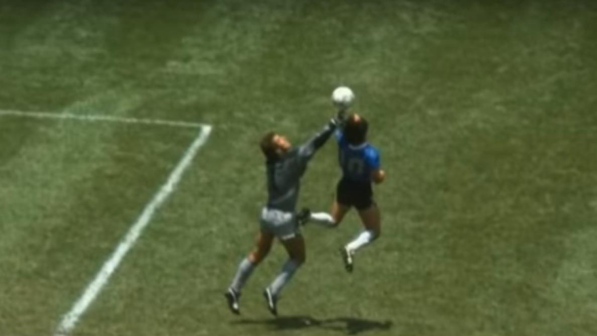 En 1986, Maradona inscrivait un but mythique grâce à la «main de Dieu» (vidéo)