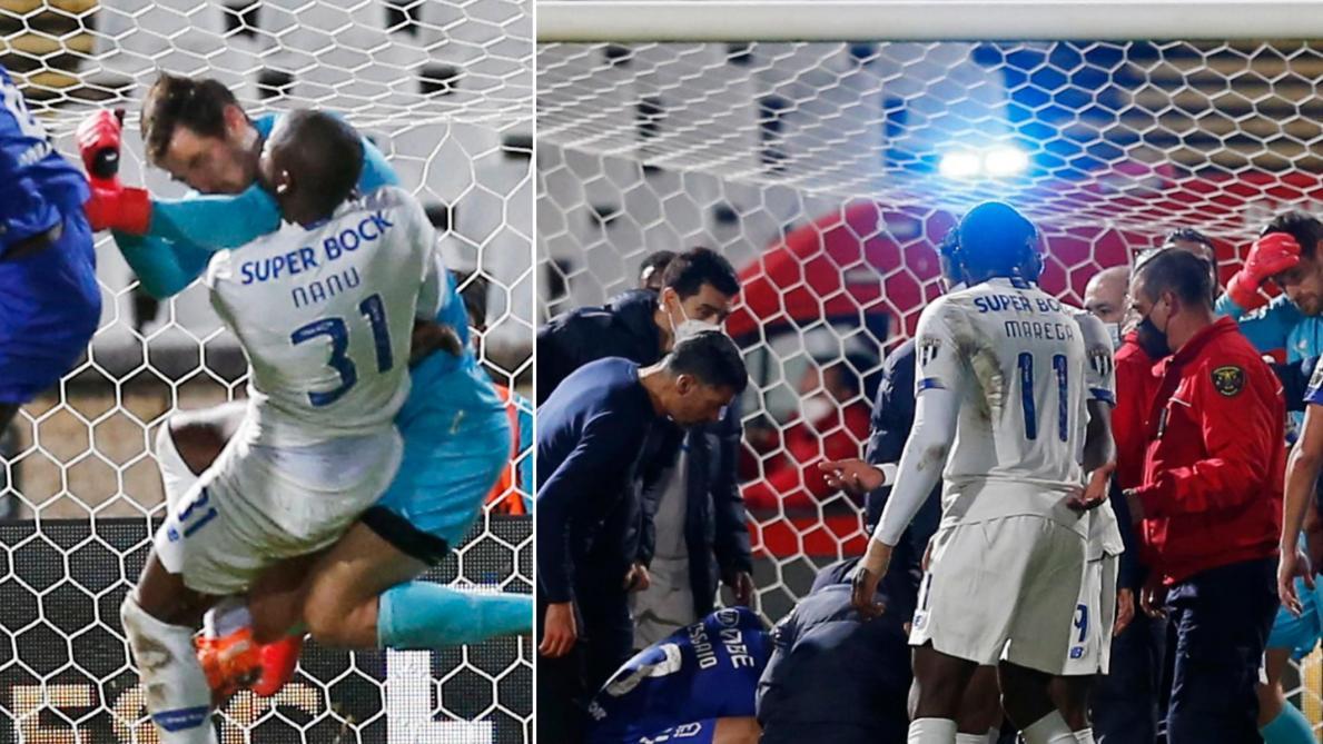 Terrible scène au Portugal: un joueur de Porto évacué en ambulance après un horrible choc à la tête (photos et vidéo) - Le Soir