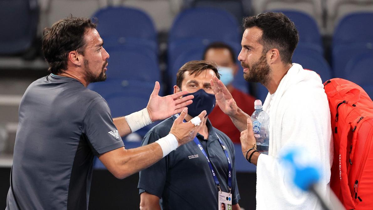Gros clash entre Fabio Fognini et Salvatore Caruso à l'Open d'Australie - Le Soir