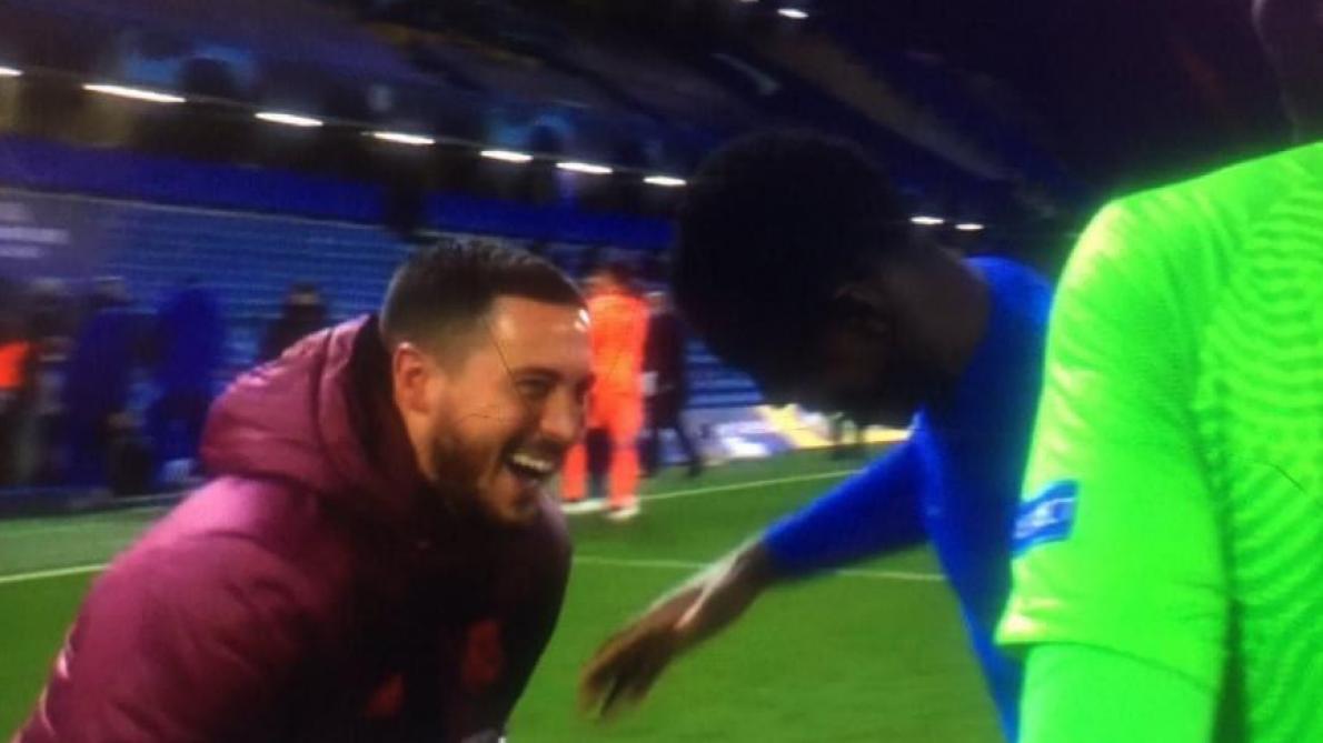 Eden Hazard en plein fou rire avec des joueurs de Chelsea: les images qui ne passent pas en Espagne (photos)