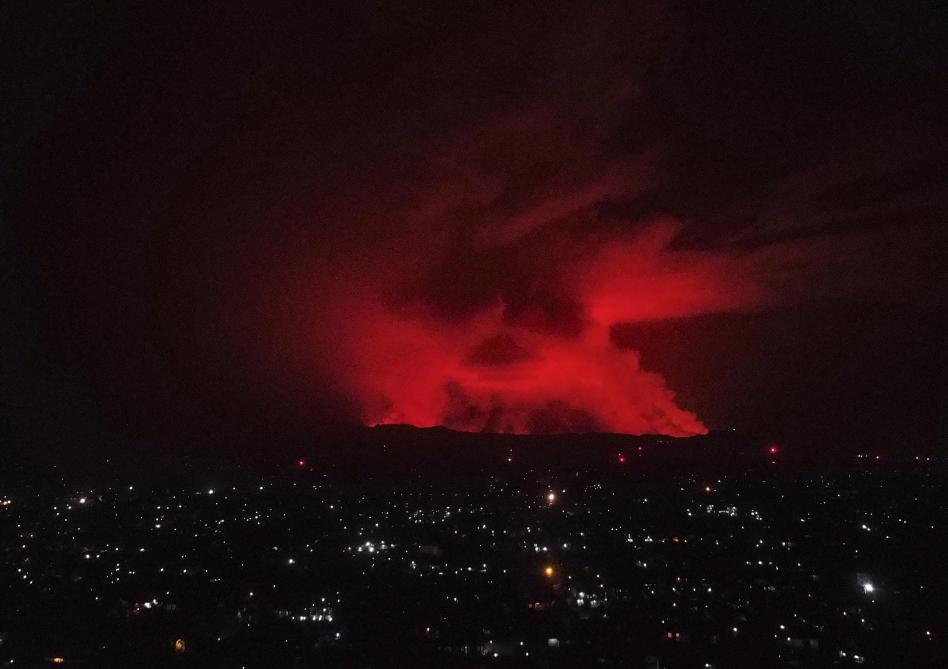 En RD Congo, le volcan Nyiragongo est entré en éruption