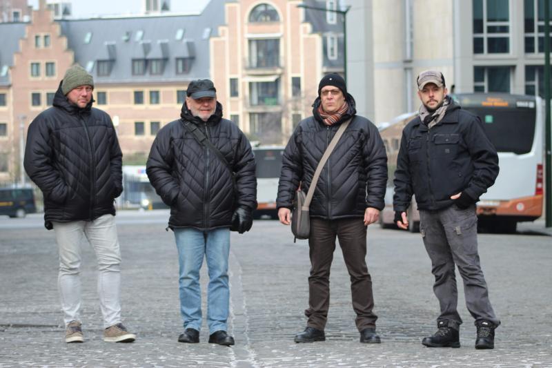 Chris, Michel, Guido et Alain. À eux quatre, ils sont le « Team Herscham ».