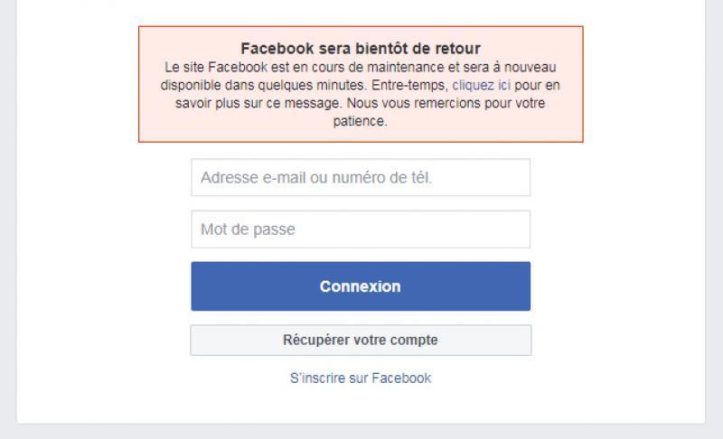 Des usagers privés de Facebook et Instagram suite à une panne