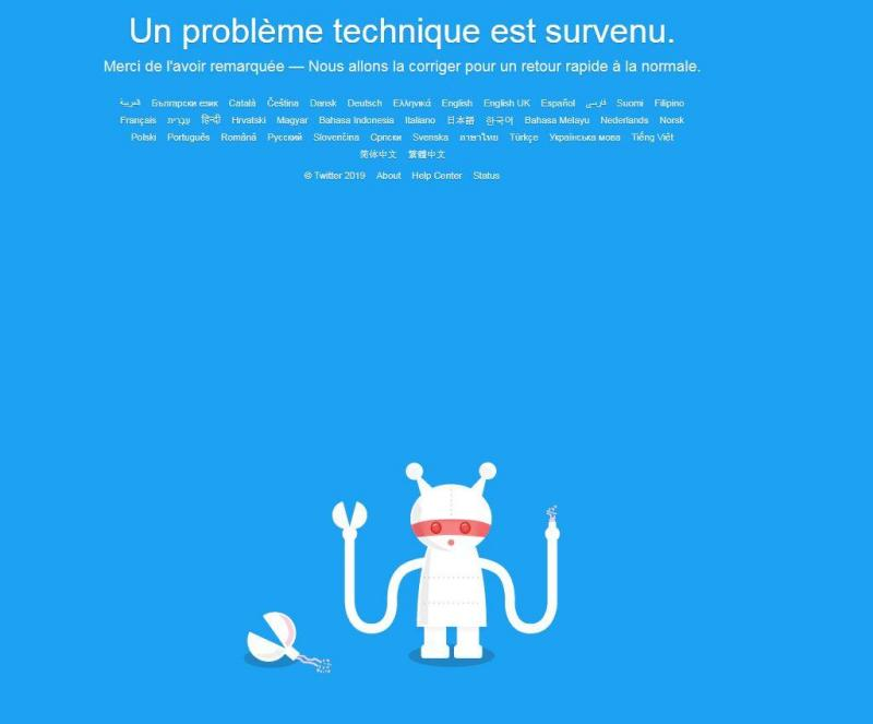Twitter refonctionne après une panne mondiale