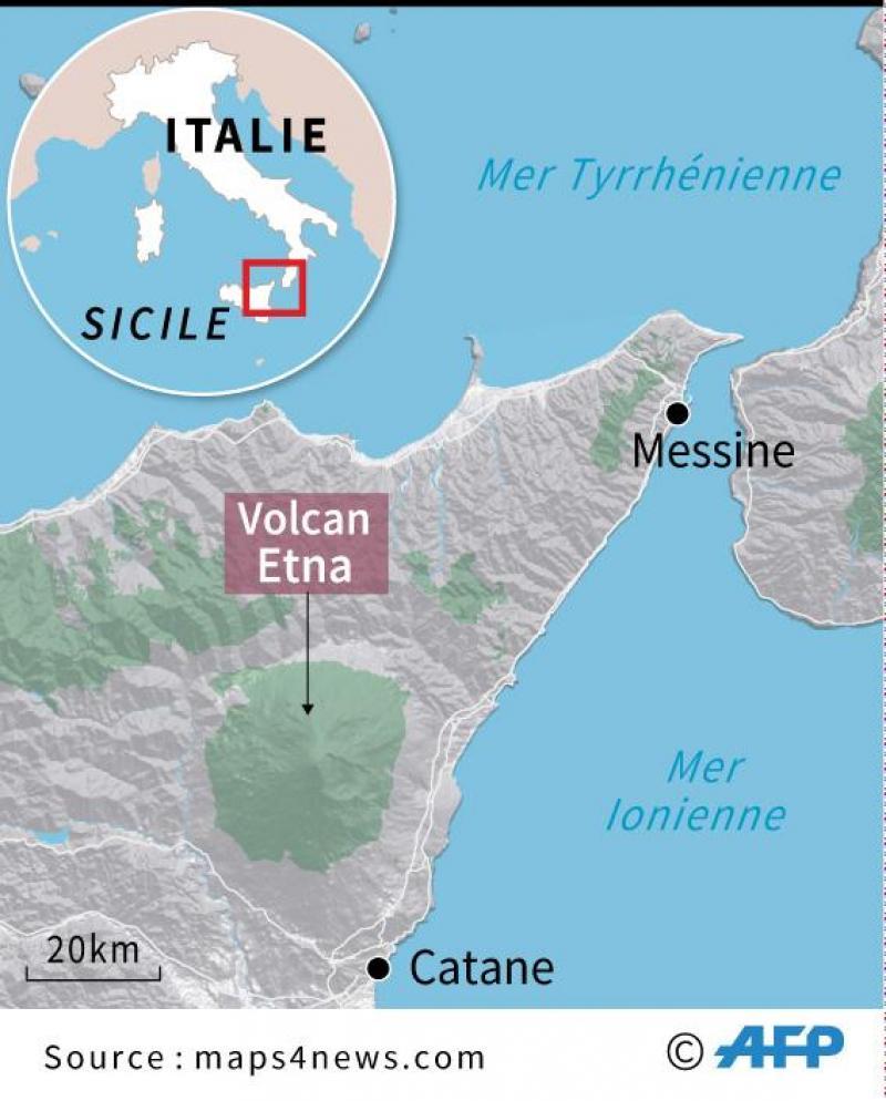 L'Etna à nouveau en éruption
