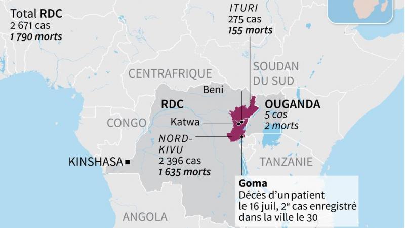 Un quatrième cas détecté à Goma — Ebola