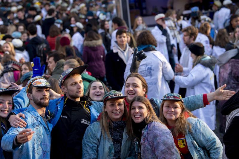 Quelque 4.000 étudiants ont participé au cortège de la Saint-V dans les rues de Bruxelles (photos)