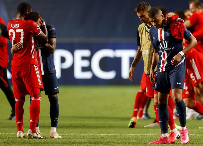 LDC: Les réactions de Neymar et Mbappé après la défaite face au Bayern Munich