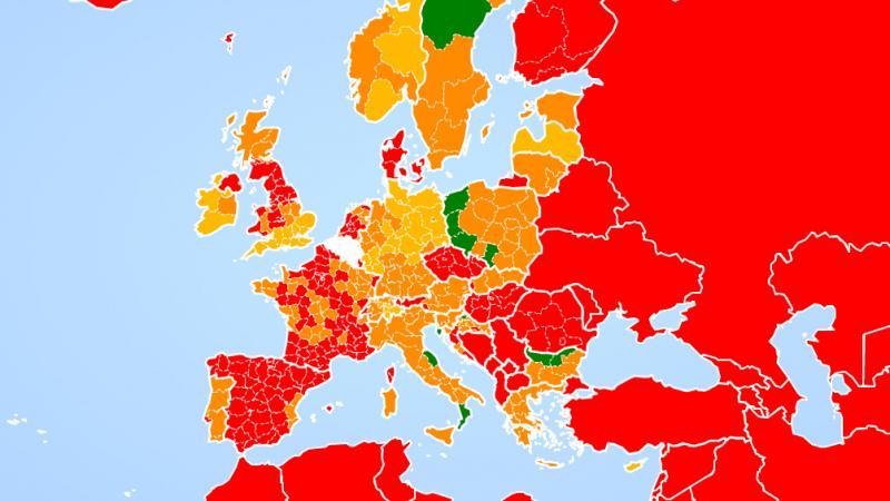 Voyages A L Etranger France Espagne Pays Bas Plusieurs Regions Passent En Zone Rouge Carte Interactive Le Soir