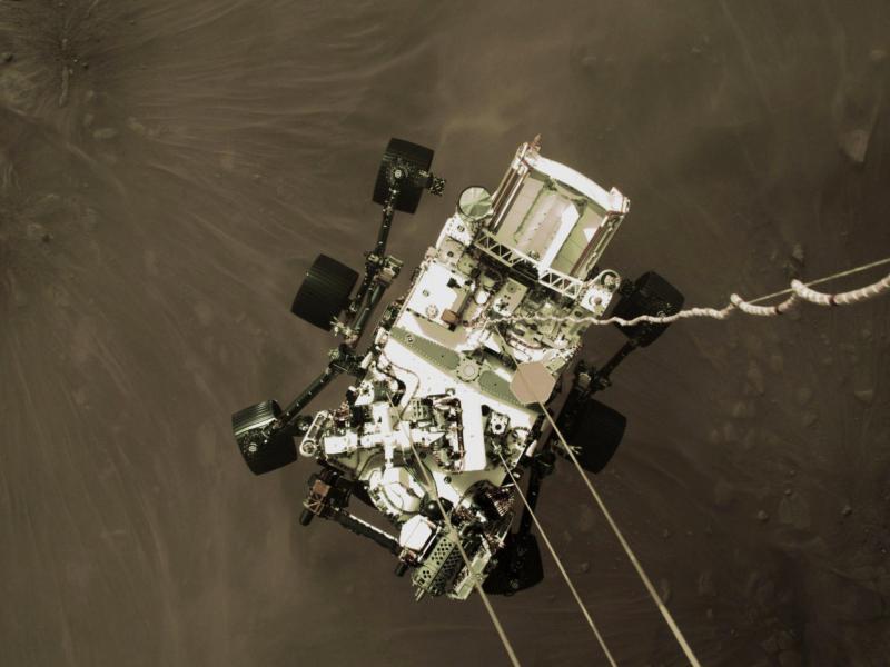 La Nasa publie la première vidéo de l'atterrissage de Perseverance sur Mars (vidéos)