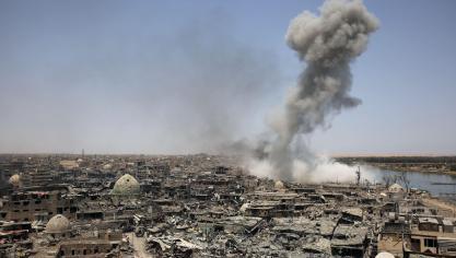 Le Premier ministre irakien a annoncé la libération de Mossoul ce dimanche. © AFP