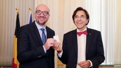 Charles Michel, Elio Di Rupo, fini de rire
