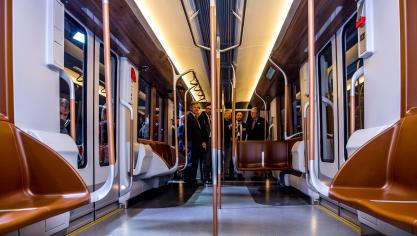 Une touche de cognac dans le métro bruxellois