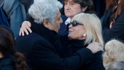 Enrico Matthias et Ulla Thorsell, l'épouse de Charles Azanvour © Reuters