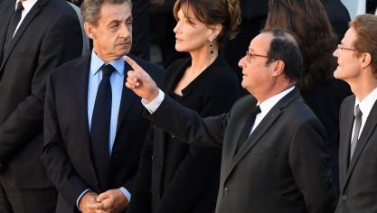 Nicolas Sarkozy, Carla Bruni et François Hollande ©AFP