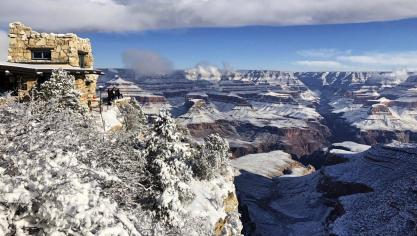 Ouverture du parc Lookout Studio dans le Grand Canyon en Arizona malgré le shutdown. Isopix