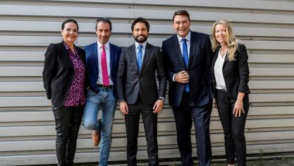 Présidence du MR: les cinq prétendants se ménagent lors du débat à Namur Expo